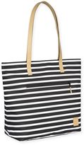 Lassig Casual Striped Tote Diaper Bag in Black/White