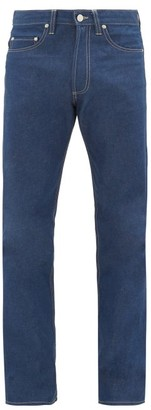 E. Tautz Contrast-stitch Slim-fit Cotton Jeans - Indigo