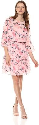 Brinker & Eliza Women's Floral Print Dress with Bell Sleeves