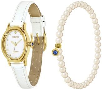 Ecclissi Facets Oval Watch & Bracelet Set