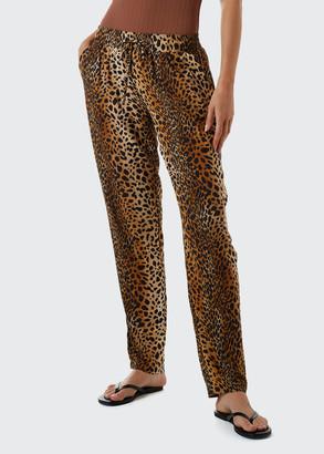 Melissa Odabash Jude Coverup Animal-Print Pants