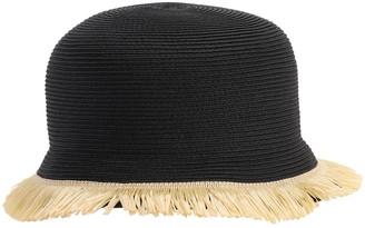 Mi Mi Sol Woven Hat W/ Raffia Fringe