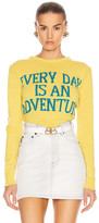 Alberta Ferretti Everyday Is An Adventure Sweater in Yellow & Blue | FWRD