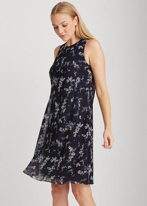 Ralph Lauren Floral Georgette Shift Dress