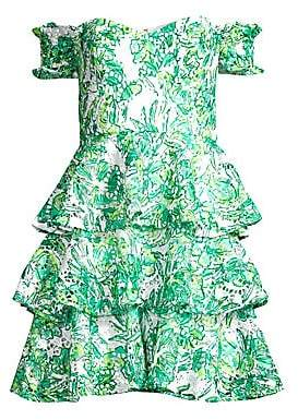 Lilly Pulitzer Women's Cicely Off-The-Shoulder Tiered Dress - Size 0