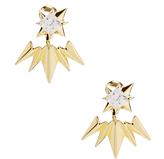 Noir Starburst Gold Plated Crater Earrings
