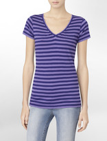 Calvin Klein Striped V-Neck T-Shirt