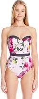 Ted Baker Women's Camarta Citrus Bloom One Piece Swimsuit