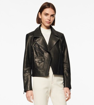 Andrew Marc Linden Textured Leather Moto Jacket