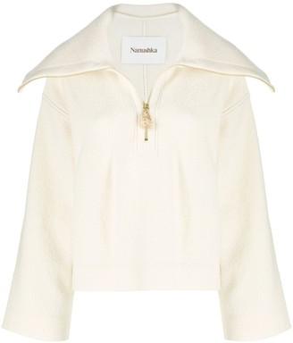 Nanushka Evira sailor collar sweater