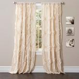 "Lush Decor Avon Curtain Panel - Ivory (84"" x 54"")"
