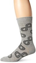 Happy Socks Men's 1pk Unisex Combed Cotton Crew-Gray Eternity