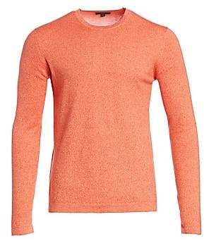 Saks Fifth Avenue Mouline Solid Woven Sweater