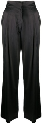 Le Kasha Sansha wide-leg silk trousers
