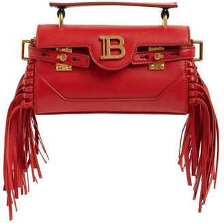 Balmain Bbuzz Baguette 19 Leather Shoulder Bag