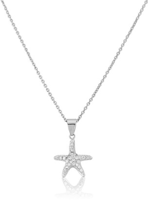 Auree Jewellery Maddalena Sterling Silver Starfish & Cubic Zirconia Necklace