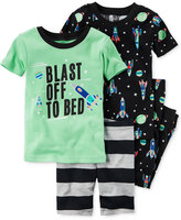 Carter's 4-Pc. Blast Off To Bed Glow-in-the-dark Pajama Set, Little Boys (2-7) & Big Boys (8-20)