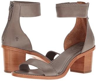 Frye Brielle Back Zip (Charcoal Soft Full Grain) Women's Dress Sandals