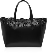 Reiss Hollie Laser Cut Leather Tote
