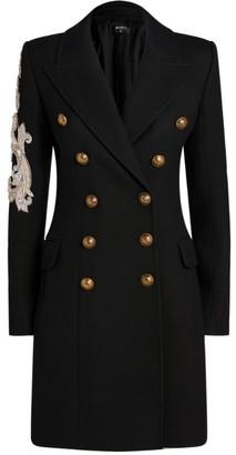 Balmain Beaded Double-Breasted Coat