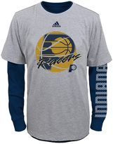 adidas Boys 8-20 Indiana Pacers Cage Option Combo Tee Set