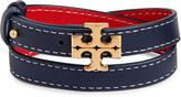 Tory Burch Kira Leather Double Wrap Bracelet