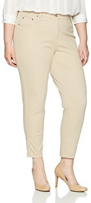 Ruby Rd. Women's Plus-Size Fly Front Stretch Knitted Twill Pant