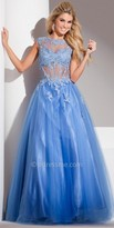 Tony Bowls Le Gala Linear Chiffon Prom Gown