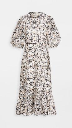 Sea Borealis Puff Sleeve Dress