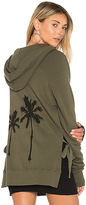 Pam & Gela Palm Zip Hoodie in Olive. - size XS (also in )