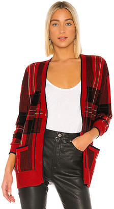 Autumn Cashmere Plaid Boyfriend Cardigan