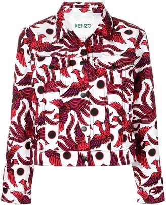 Kenzo Bird-Print Denim Jacket