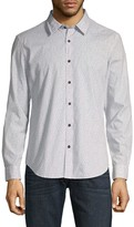 7 For All Mankind Printed Long-Sleeve Button-Down Shirt
