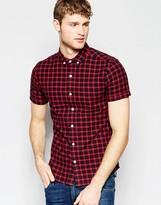 Asos Skinny Check Shirt in Short Sleeve