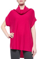 Vince Slouchy Ribbed Turtleneck Sweater, Cerise