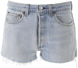 RE/DONE High-Waisted Denim Shorts