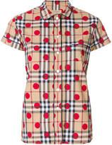 Burberry house check printed shirt