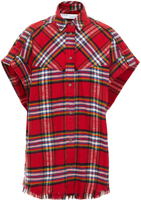 IRO Checked Cotton-flannel Shirt