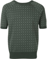 Emporio Armani patterned shortsleeved jumper - men - Cotton/Viscose - 50