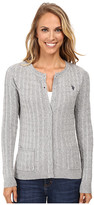 U.S. Polo Assn. Donegal Cable Cardigan Sweater