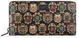 Dolce & Gabbana Sicilian Crest Print Zip-around Wallet