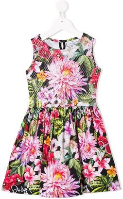 Philipp Plein Embellished Floral Print Dress