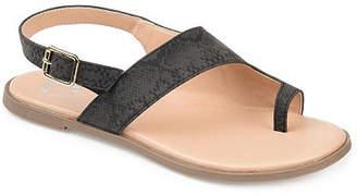 Journee Collection Womens Gidget Adjustable Strap Flat Sandals