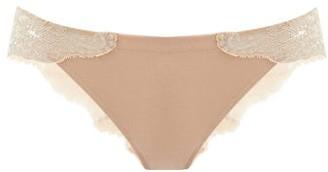 La Perla Souple Lace-panelled Briefs - Nude
