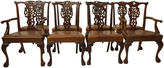 One Kings Lane Vintage 19th-C. English Chippendale Chairs, S/8