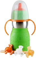 Kid Basix The Safe Sippy 2 Sippy + Straw Bottle - Green - 11 oz