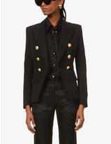Balmain Double-breasted wool-twill jacket