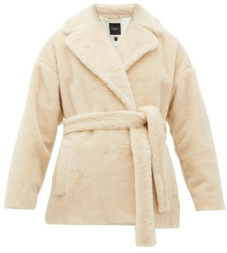 Max Mara Ramino Double-breasted Virgin Wool-blend Coat - Womens - Ivory