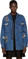 Valentino Blue Denim Butterfly Jacket