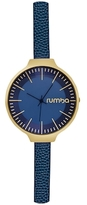 RumbaTime Orchard Leather Midnight Blue Dial Watch, 35mm
